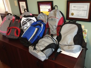 Backpacks for Bell, 2013
